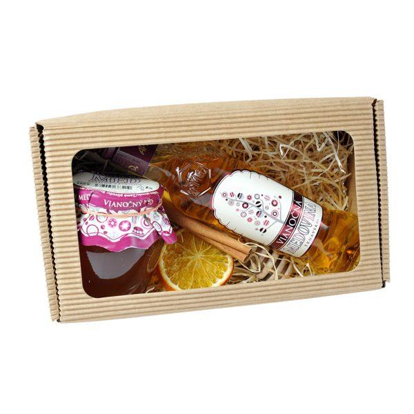 Vianočný medový set v krabičke - S