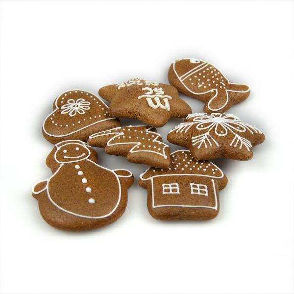 Samostatný medovník - zdobené vianočné motívy
