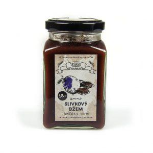 Slivkový džem s čokoládou a rumom