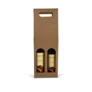 Papierová krabica na 2 ľadové vína hnedá