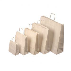 Papierová taška biela, točené ušká, 350 x 180 x 440 mm