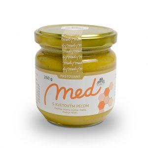 Pastovaný med s kvetovým peľom 250 g