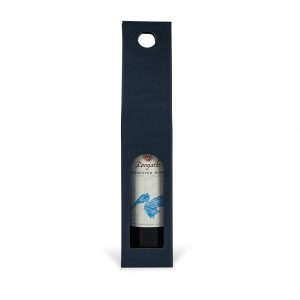 Papierová krabica na 1 víno modrá
