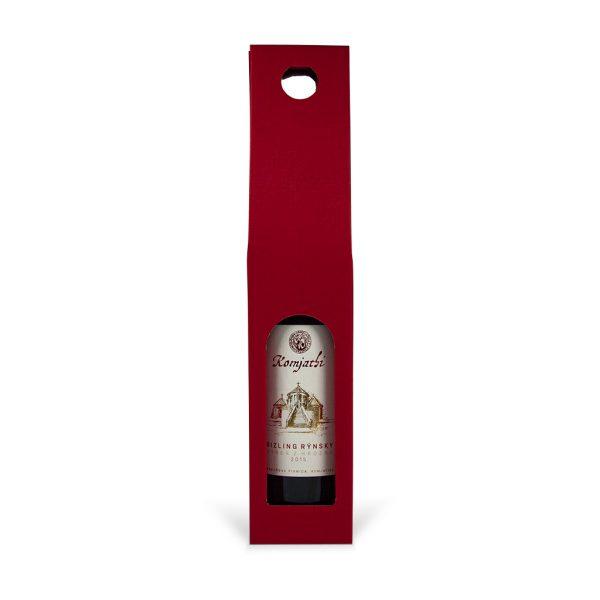 Papierová krabica na 1 víno červená