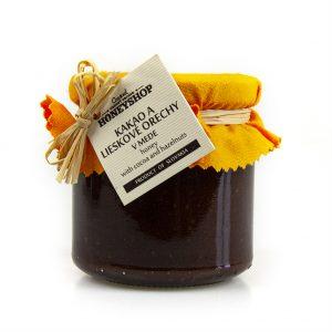 Kakao a lieskovce v mede 250 g