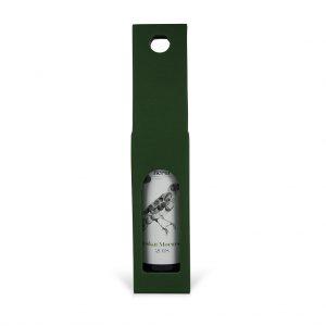 Papierová krabica na 1 víno zelená