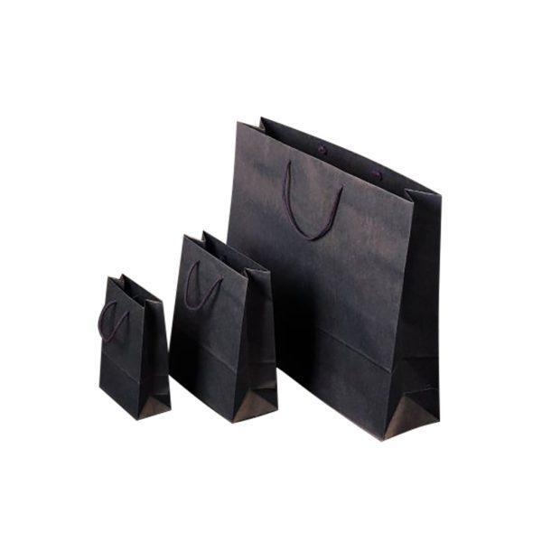Papierová taška modrá, bavlnené ušká, 550 x 150 x 480 mm