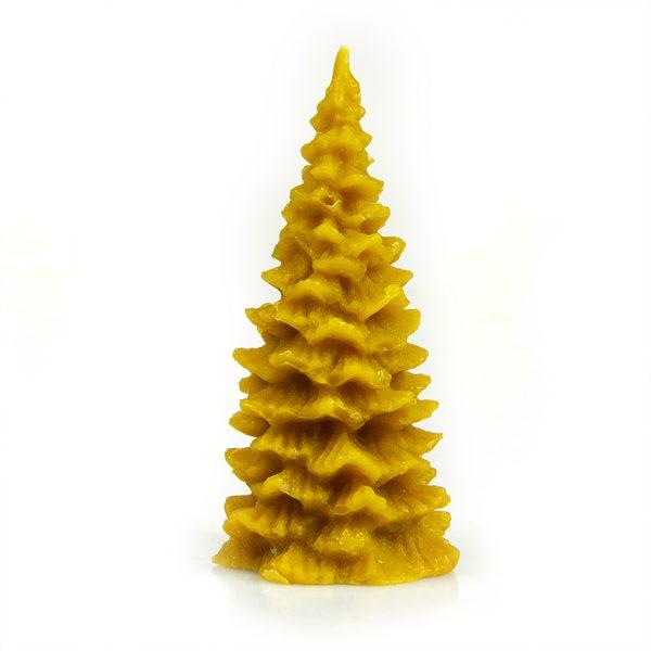 Sviečka - Strom smrek žltý, v 10 cm, š 5 cm