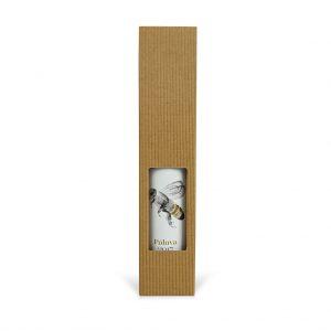 Papierová krabica na 1 ľadové víno hnedá otvorená mikrovlna