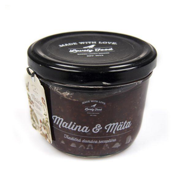 Malinovo-mätový džem