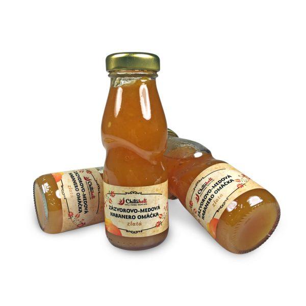 Zázvorovo - medová habanero omáčka zlatá - stredne pálivá