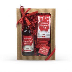 Vianočná krabička - červená
