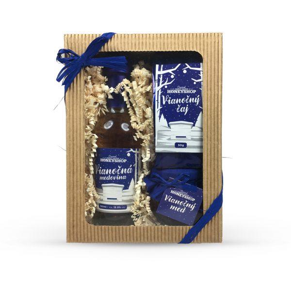 Vianočná krabička - modrá