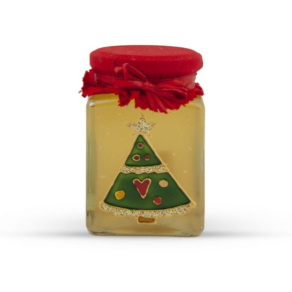 Maľovaný pohár s agátovým medom 330 g - stromček