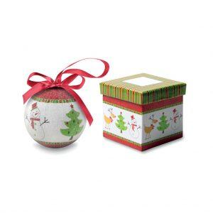 Vianočná guľa v darčekovej krabičke