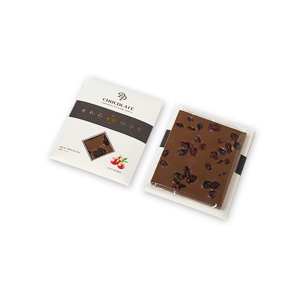 Tabuľková čokoláda Basic horká s brusnicami