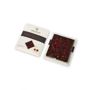 Tabuľková čokoláda Basic horká s višňami