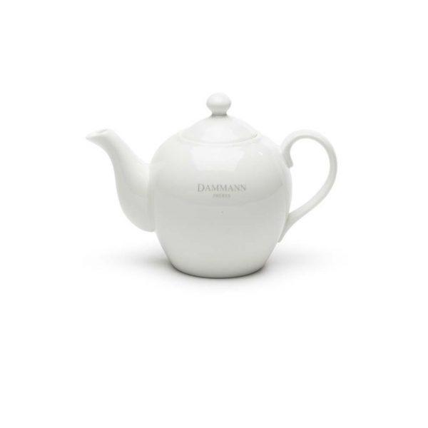 Biely čajník Dammann Fréres s logom