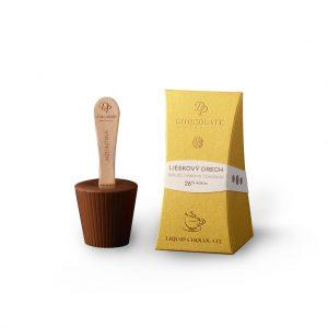 Tekutá čokoláda v krabičke Standard mliečna - lieskový orech 26%