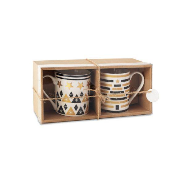 Keramické šálky v darčekovej krabičke