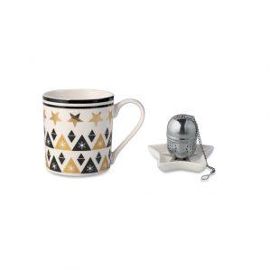 Šálka s mini táckou a sitkom na čaj