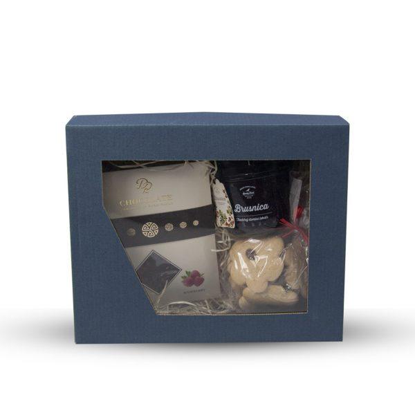 Modrá darčeková krabička 240 x 180 x 95 mm